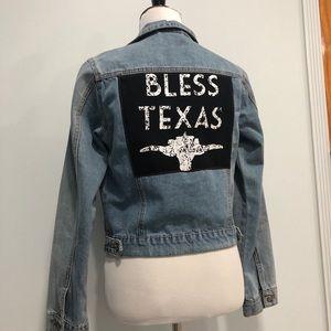 """""""Bless Texas"""" Jean Jacket"""